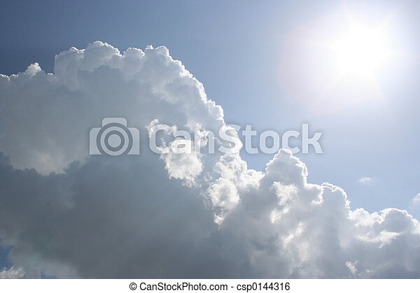 sonne, wolkenhimmel - csp0144316