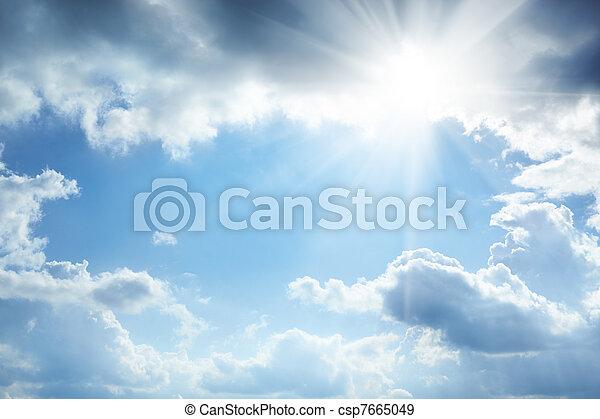 sonne, wolkenhimmel - csp7665049