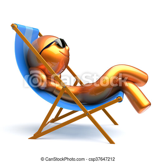 Mann und frau im liegestuhl clipart  Sonnenbrille, entspannend, deck, smiley, person, stuhl, sandstrand ...
