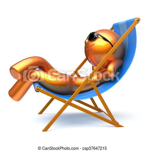 Mann im liegestuhl clipart  Sonnenbrille, entspannend, deck, smiley, person, stuhl, sandstrand ...
