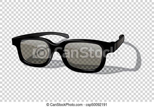Vector realistische 3d oder sonnenbrille isoliert auf