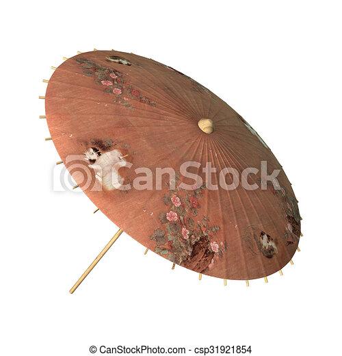 Sonnenschirm Asiatisch sonnenschirm asiatisch retro stil render freigestellt stock
