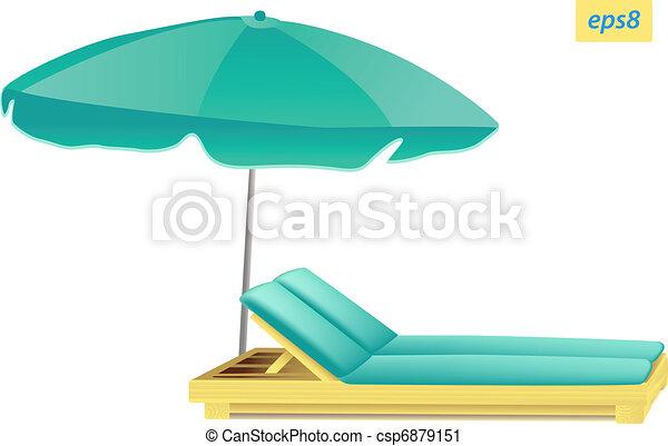 Sonnenschirm grafik  Vektor Clipart von sonnenschirm, und, chaise csp6879151 - Suche ...