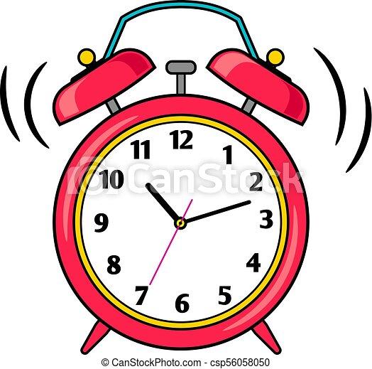 Sonner reveil dessin anim rouges horloge comique - Dessin reveil ...