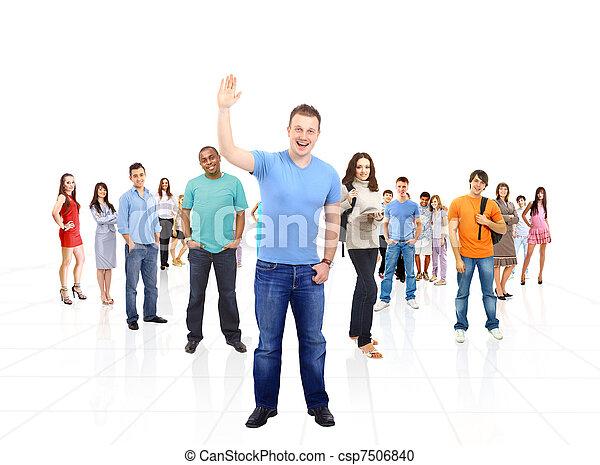 Gente feliz sonriendo - csp7506840