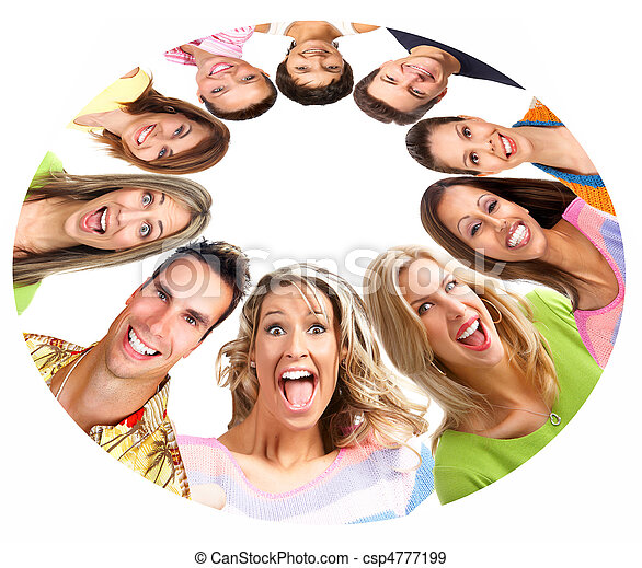 Gente feliz sonriendo - csp4777199