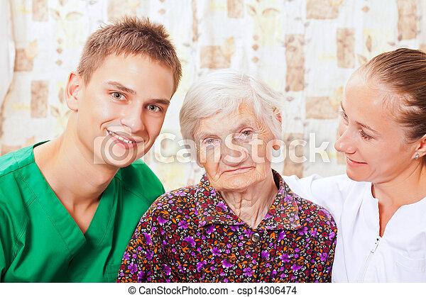 Gente feliz sonriendo - csp14306474