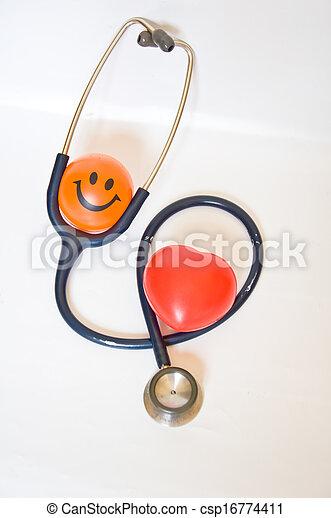 Sonriendo por buena salud - csp16774411