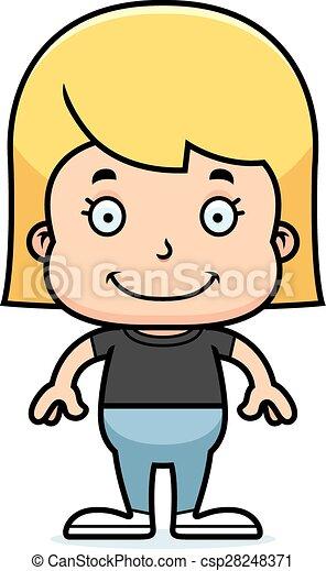 Una chica sonriente - csp28248371