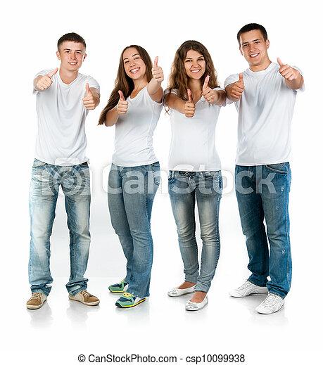 Gente joven sonriendo - csp10099938