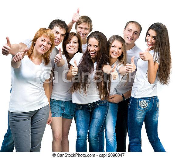 Gente joven sonriendo - csp12096047