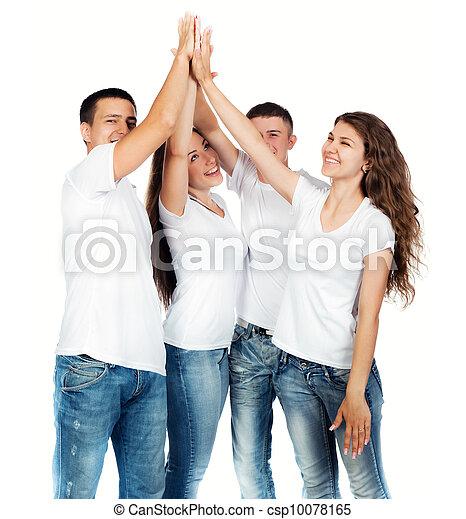 Gente joven sonriendo - csp10078165