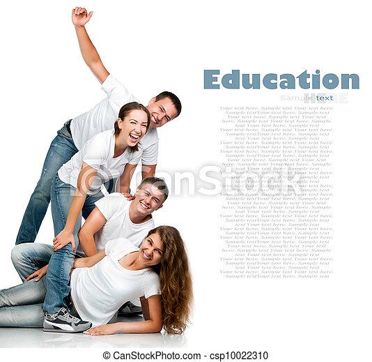 Gente joven sonriendo - csp10022310
