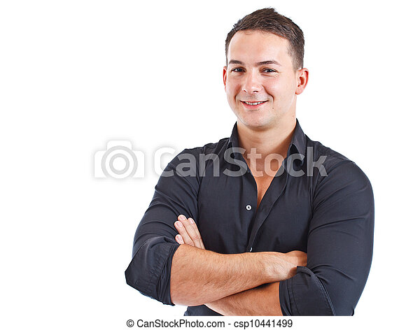 Un joven sonriente - csp10441499