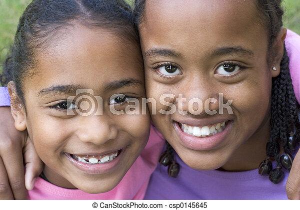 sonriente, niños - csp0145645