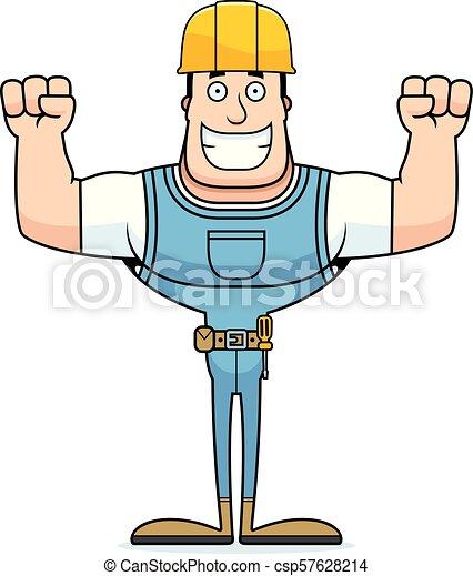 Un trabajador de construcción sonriente - csp57628214