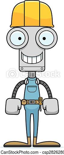 Robot trabajador de la construcción sonriente - csp28262807
