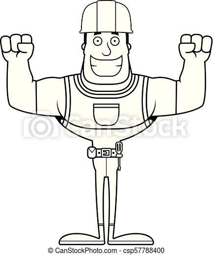 Un trabajador de construcción sonriente - csp57788400