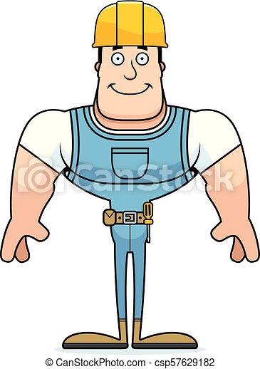 Un trabajador de construcción sonriente - csp57629182