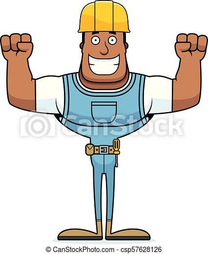 Un trabajador de construcción sonriente - csp57628126