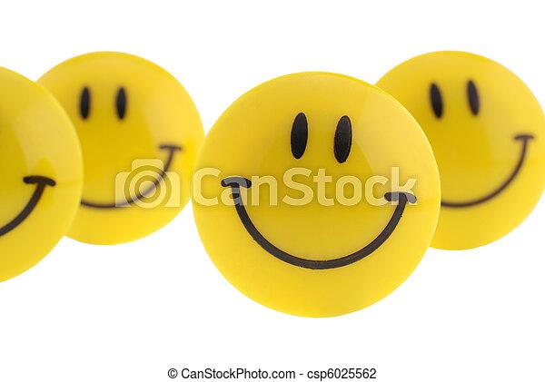 sonrisa, aislado - csp6025562