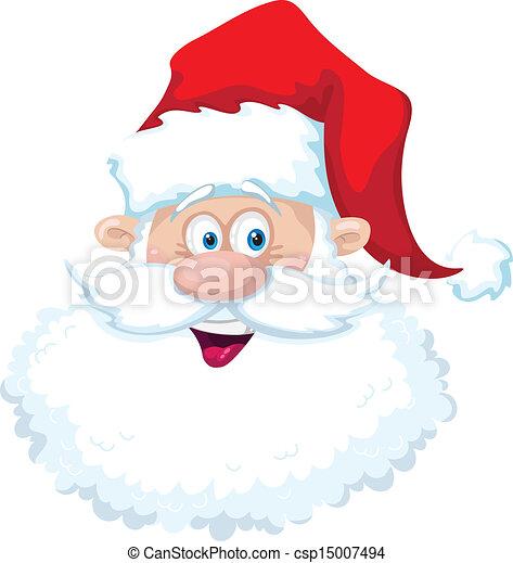 Sonríe cabeza de Santa - csp15007494