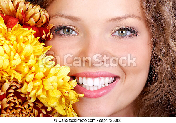 sonrisa, mujer - csp4725388