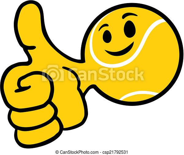 Una pelota de tenis sonriente - csp21792531