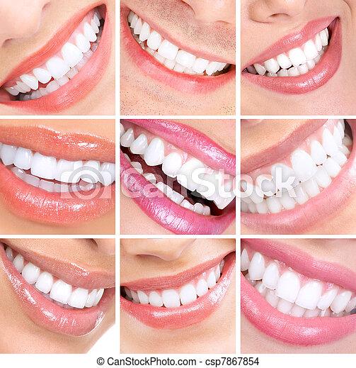 sonrisa, teeth. - csp7867854