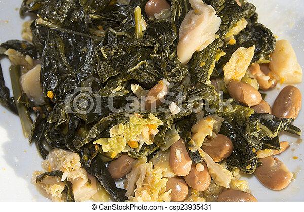 Sopa de repollo negro - csp23935431