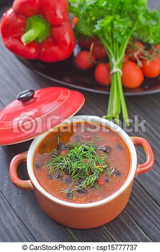 Sopa de frijoles - csp15777737