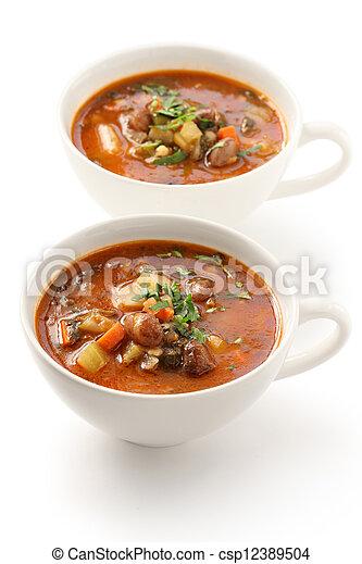 Sopa minestrone - csp12389504