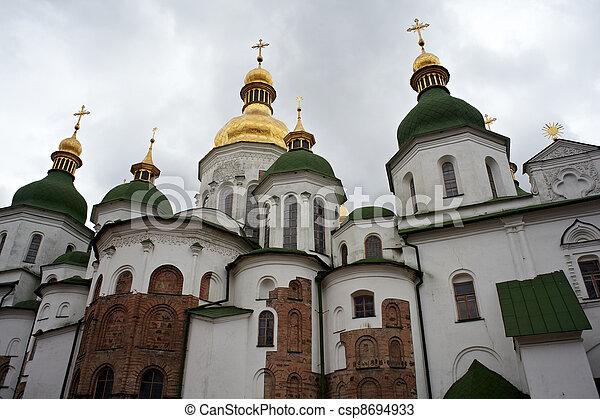 Santa Sophia catedral en Kiev, ukraine - csp8694933