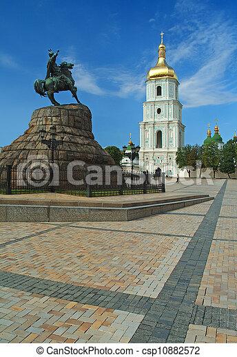 Santa Sophia catedral en Kiev, ukraine - csp10882572