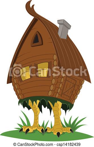 sorcière, hutte, fée-conte - csp14182439