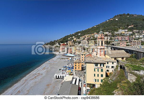 Sori, Italy - oveview - csp9438686