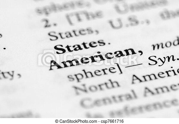 sorozat, amerikai, -, szótár - csp7661716