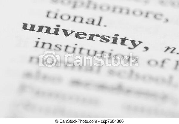 sorozat, egyetem, -, szótár - csp7684306