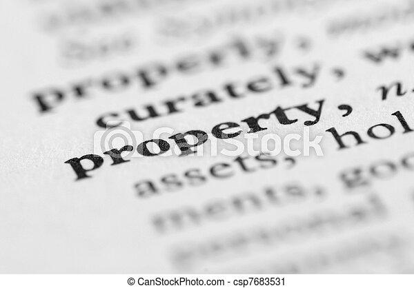 sorozat, ingatlan, -, szótár - csp7683531