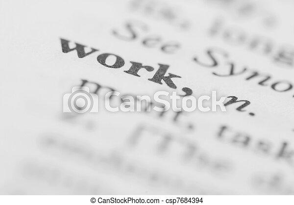 sorozat, munka, -, szótár - csp7684394