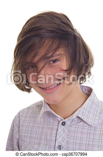 sorridente, adolescente - csp36707994