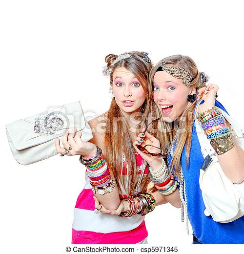 sorridente, moda, vittime, accessori, felice - csp5971345
