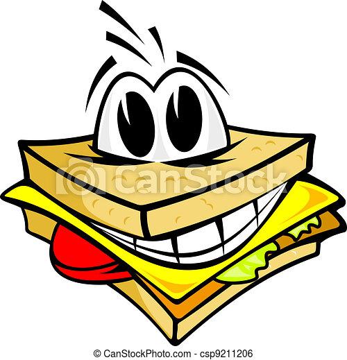 sorridente, panino - csp9211206