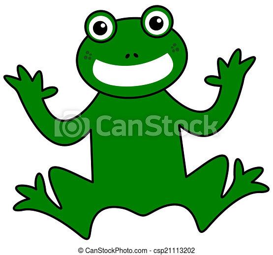 sorridente, rana verde - csp21113202