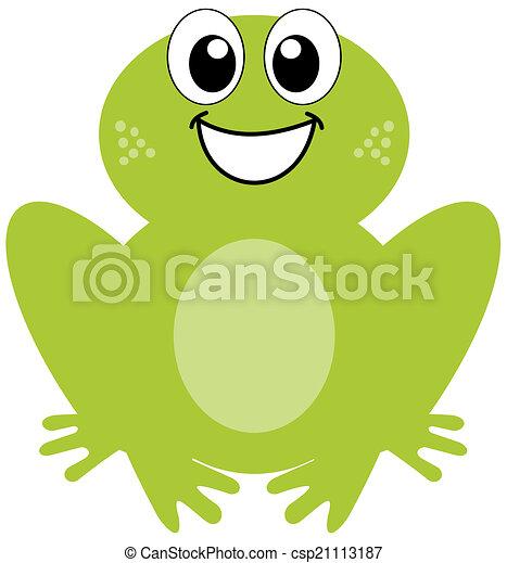 sorridente, rana verde - csp21113187