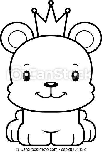 Sorrindo Caricatura Urso Principe Sorrir Caricatura Urso