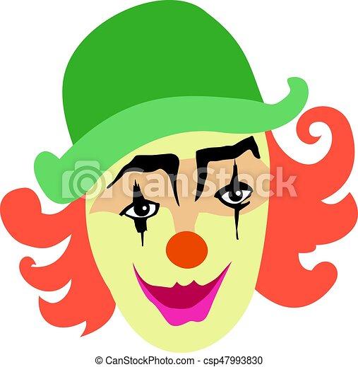sorrindo, engraçado, palhaço - csp47993830