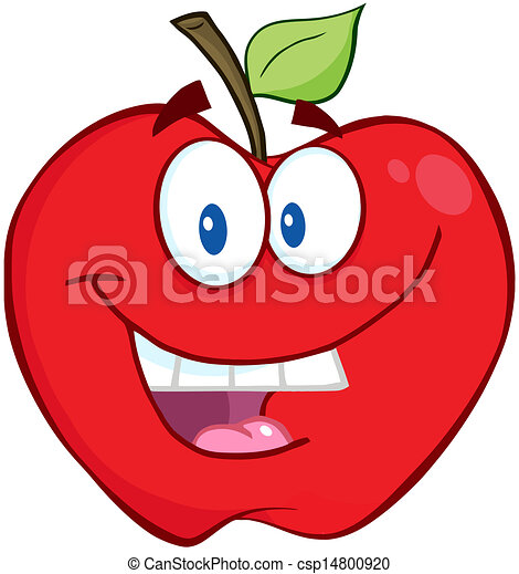 sorrindo, maçã, vermelho - csp14800920