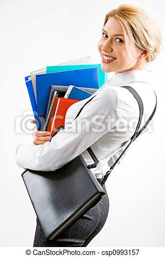 sorrindo, secretária - csp0993157
