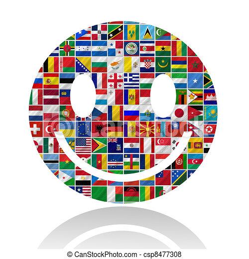 sorrizo, bandeiras - csp8477308